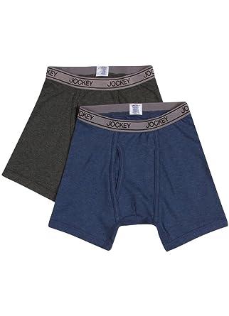 Amazon.com: Jockey Boy's Underwear Boys Cotton Performance Boxer ...