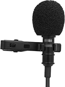 Andoer Mini Microfone Clipe de Lapela, de 3.5mm