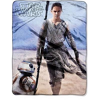 "Disney Star Wars Rey Plush Throw Blanket - 40"" x 50"""