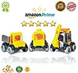 CMA Kids' Toy Cars: Ultimate 3-Pack Kids' Car Collection/ Premium Weather-Proof Plastic Manufacture/ Sturdy, Durable, Safe Construction Toys Made In Europe/ Develop Your Kid's Motor Skills/ Great Gift