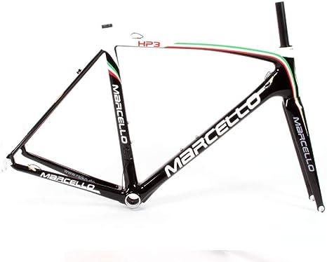 marcello HP3 - Marco para Bicicleta de Carreras (Carbono, Ligero ...