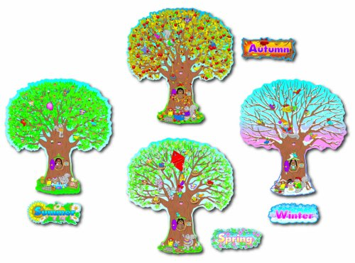 Carson Dellosa Four Seasons Trees Bulletin Board Set (3214)