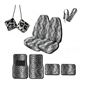 Amazon Com A Set Of Animal Print Front And Back Floor