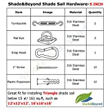 Shade&Beyond 316 Marine Grade Shade Sail Hardware