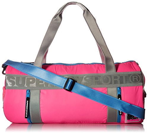 Superdry Women's Super Sport Barrel Bag Backpack, Sports Pink, One Size (Barrel Backpack)