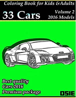 Coloring Book For Kids Adults Cars 2016 Supercars Streetcars Pickups