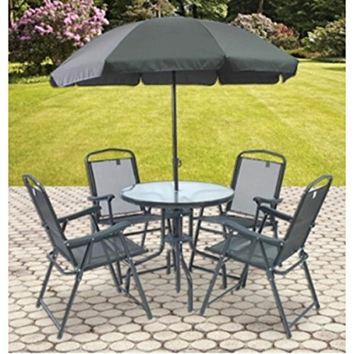 Prestige Patio 6-Piece Sling Patio Dining Set (7 Table Pool Wave Cover)