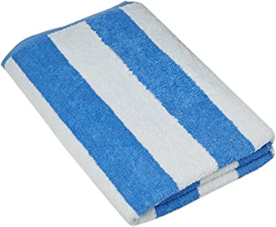 Large Beach Towel, Pool Towel, in Cabana Stripe - (4 pack, 30x60 inches) - Cotton - by Utopia Towel