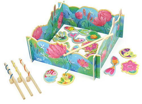 Vilac 33 x 16.5 x 33cm Water Lily Fishing Game (23 Piece)