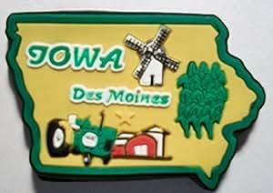 Iowa Des Moines Multi Color Fridge Magnet
