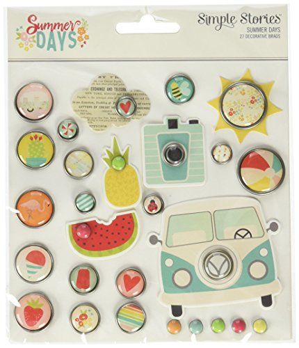 Simple Stories Summer Days Decorative Brads -