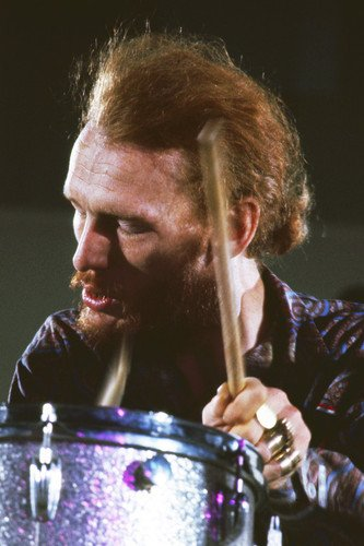 Blind Faith Ginger Baker playing drums Los Angeles 1969 24x36 (Ginger Baker Drum)