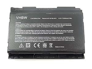 vhbw Li-Ion batería 5200mAh (14.8V) para Notebook Sager NP8131, NP8150, NP8151, NP8170 por 6-87-X510S-4D72.