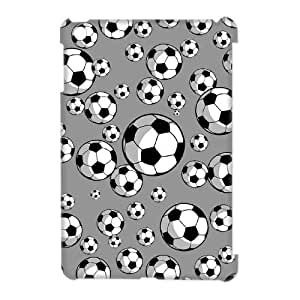 wugdiy Customized Hard Back 3D Case Cover for iPad Mini with Unique Design Soccer