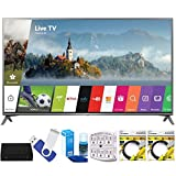 LG 75UJ6470 75'' UHD 4K HDR Smart LED HDTV (2017 Model) Plus Terk Cut-the-Cord HD Digital TV Tuner and Recorder 16GB Hook-Up Bundle