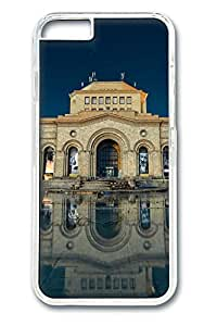 Armenia yerevan building reflection in water Polycarbonate Hard Case Cover for iphone 6 plus Transparent