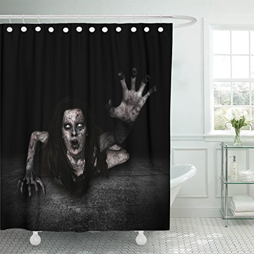 TOMPOP Shower Curtain Movie 3D of Scary Ghost