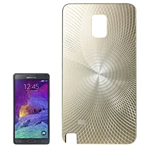 Shimmering Style Metal Paste Skin Plastic Back Shell Protective Case for Samsung Galaxy Note 4 / N900 (Gold)