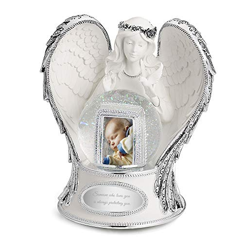 (Things Remembered Personalized Guardian Angel Musical Snow Globe with Engraving Included )