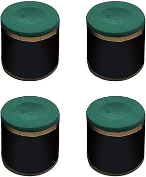 Bclaer72 - Juego de 4 Tacos de Billar cilíndricos de Tiza Antideslizantes, Verde Oscuro: Amazon.es: Deportes y aire libre