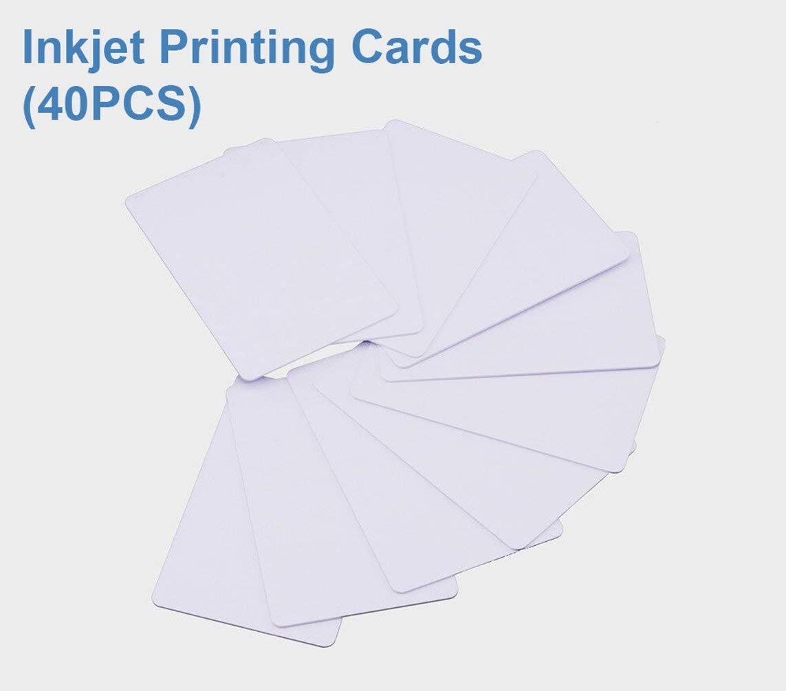 Carte D'identità In PVC Stampabili A Getto D'inchiostro Funziona Con Stampanti A Getto D'inchiostro Epson e Canon, Materiale Impermeabile Di Spessore CR80 30 MIL, Entrambi i Lati Possono Essere Stampati(40 pezzi) - TimesKey NFC-PMCard-40
