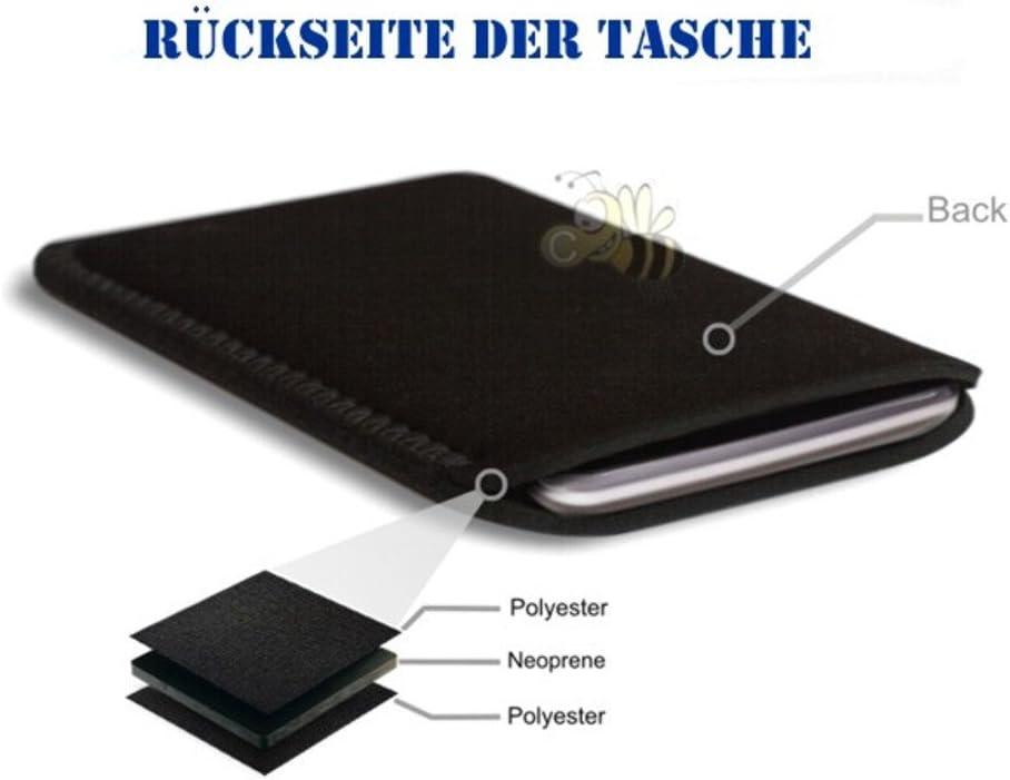 BIZEBEETAB Biz-E-Bee Exclusive /'PSYCHEDELIC JUMBLE 7HD/' Black Neoprene Pouch for NEW AMAZON KINDLE FIRE HDX 7 inch 7 2013 Tablet Pouch Shock//Water Resistant Neoprene Cover Case UK Slip