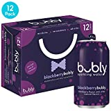 bubly Sparkling Water, Blackberry, 12 Fl Oz Cans, 12 Count