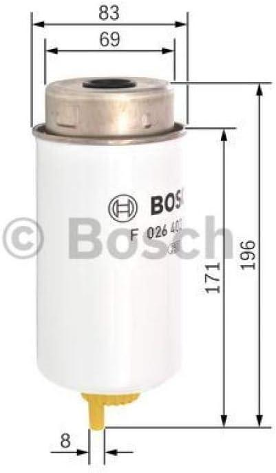 BOSCH F 026 402 082 Filtro carburante