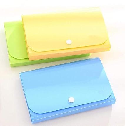 1 UNIDS Nuevo Plástico Color Caramelo A6 Carpeta de Archivos ...