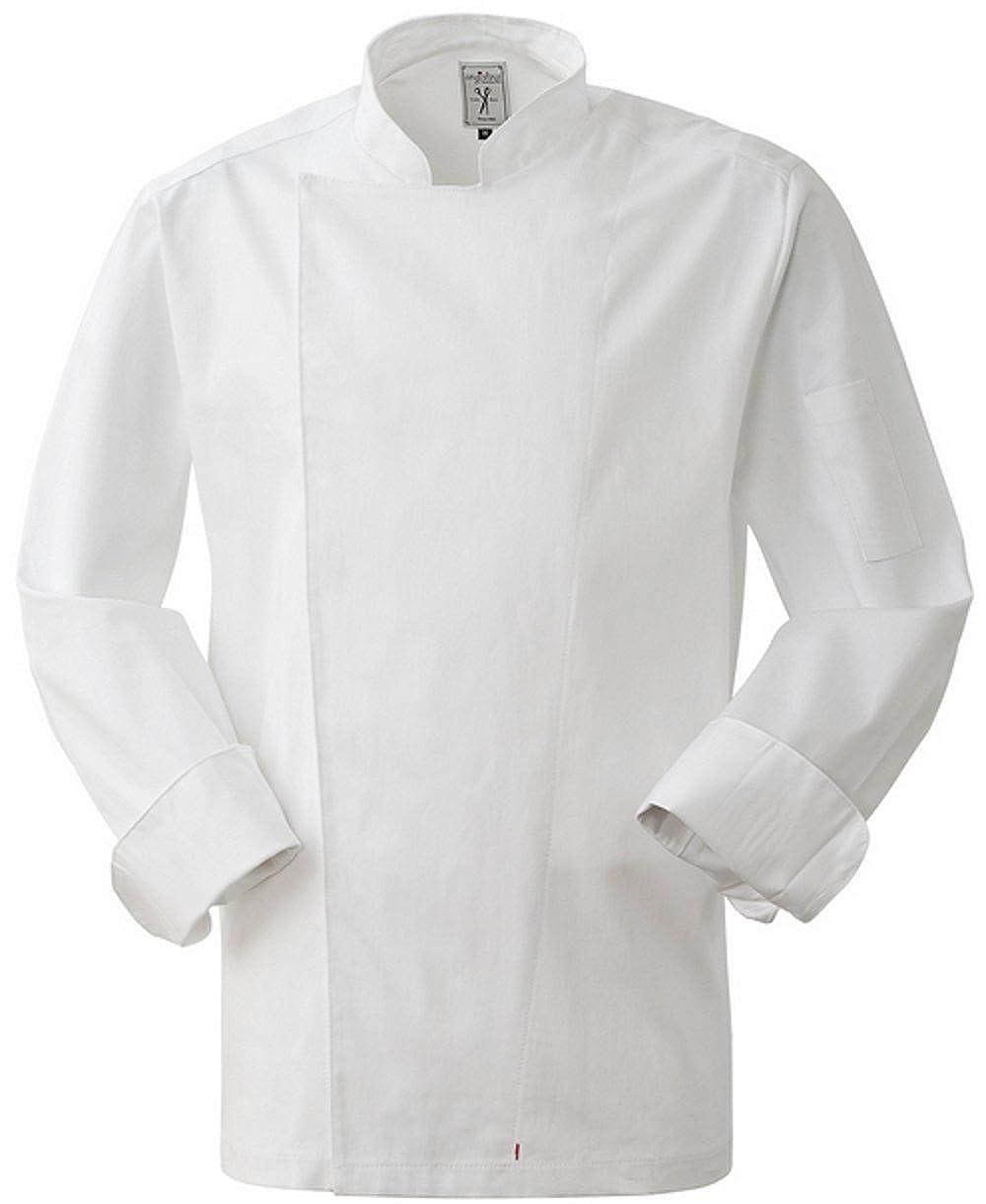 Giacca cuoco bianca con bottoncini a pressione MG0801 02