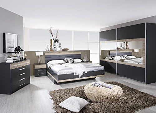 Matelpro-Chambre adulte complète contemporaine gris/chêne ...