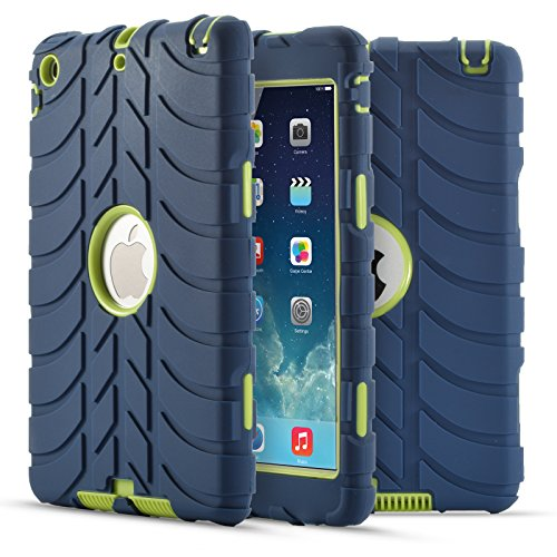 iPad mini Case, iPad mini 2 Case, iPad mini 3 Fisel Tire Design Three Layer Rugged Armor Defensive Shockproof Anti-Scratch Bumper High Impact Resistant Full-Body Protective Case for iPad mini - Retail Price Jordans