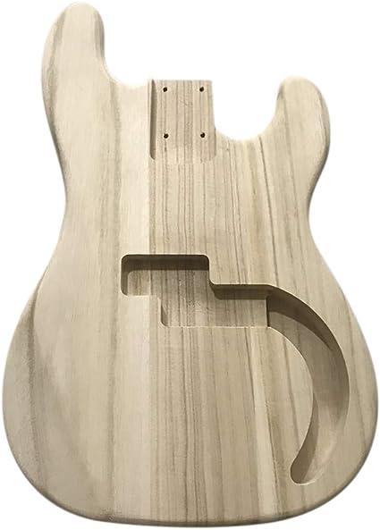 Cuerpo de guitarra eléctrica, barril de madera pulida, cuerpo de ...