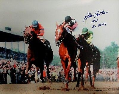 Steve Cauthen Signed Autographed 16x20 Photo 1978 Kentucky Derby Winner Jockey - Autographed Sports Photos