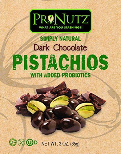 Dark Chocolate Covered Pistachios With Added Probiotics