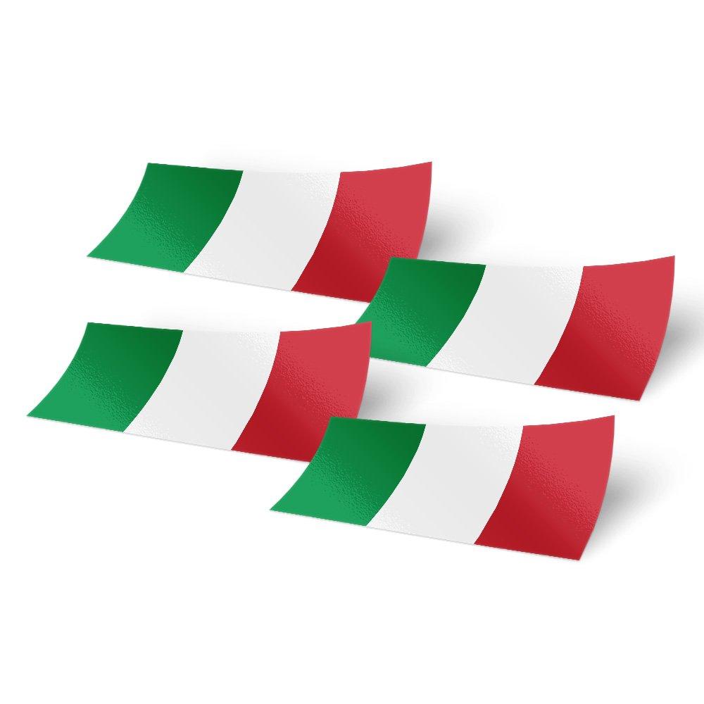 Amazon.com: 4 pegatinas de bandera de Italia de 4.0 in de ...