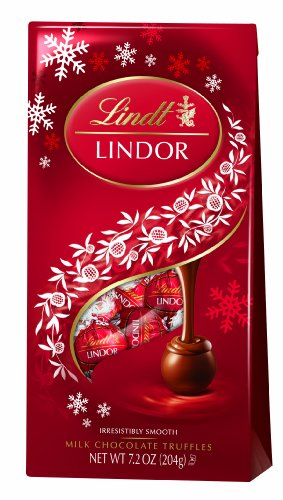 Lindt LINDOR Milk Chocolate Holiday Truffle 7.2 Ounce