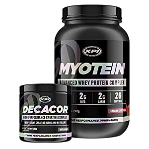 Myotein Protein Powder (Choc, 2lb) & Decacor - Best Whey Protein Powder / Shake - Hydrolysate, Isolate, Concentrate & Micellar Casein