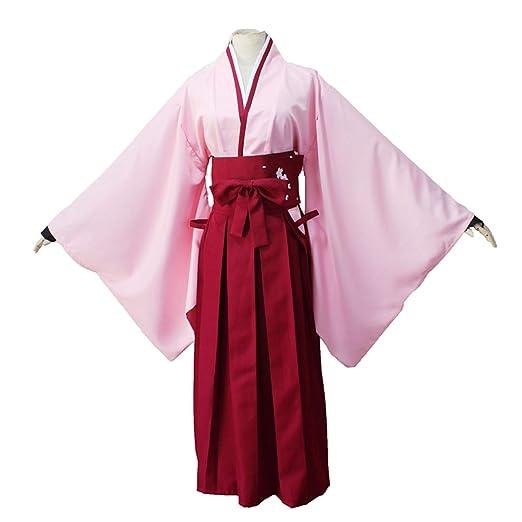 YKJ Personaje de Anime Traje Diario de Kimono Rosado Traje de ...