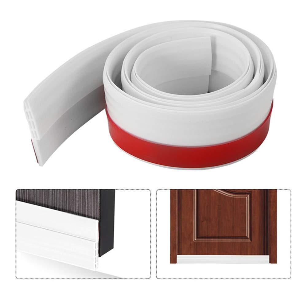 Energy Efficient Door Draft Stopper Door Under Seal,Door Noise Stopper & Soundproofing Door Sweep Weather Stripping,Winter Stripping Door Bottom Seal Blocker 2'' W x 39'' L-White (1PCS)