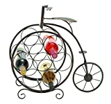 Cheap Deco 79 Woodland Imports Woodland Imports Antique High Wheel Bicycle 7 Bottle Wine Rack, Metal
