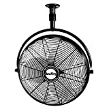 Air King 9320 20-Inch 1/6-Horsepower Industrial Grade Ceiling Mount Fan with 3,670-CFM, Black