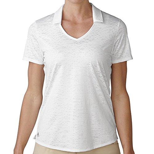 adidas Golf Women's Tour Climacool Textured Polo White Shirt