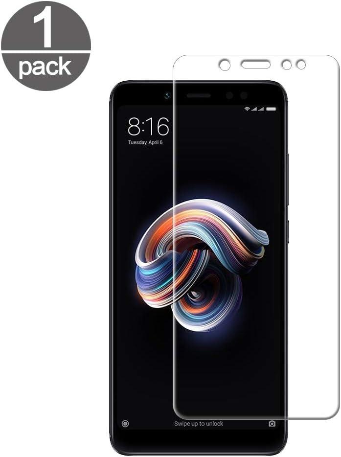 TUUT Protector de Pantalla Xiaomi Redmi Note 5, Vidrio Templado para Xiaomi Redmi Note 5 Pro Cristal Transparente [9H Dureza] [2.5d Bord] [Alta Definicion] [Anti-Huella] [Sin Burbujas]