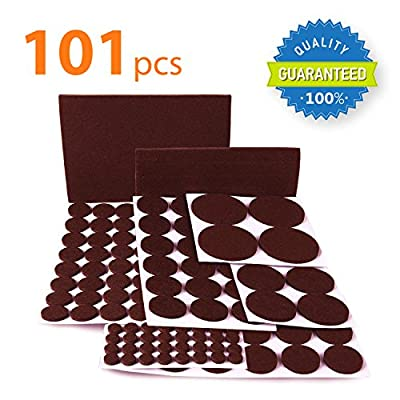 X-PROTECTOR Premium CLASSIC Pack Furniture Pads 101 piece! Felt Pads Furniture Feet - Your Best Wood Floor Protectors. Protect Your Hardwood & Laminate Flooring with 100% Satisfaction!