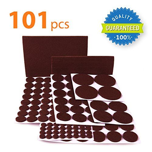 X-PROTECTOR Premium CLASSIC Pack Furniture Pads 101 piece! Felt Pads  Furniture Feet Your Best Wood Floor Protectors. Protect Your Hardwood &  Laminate ...