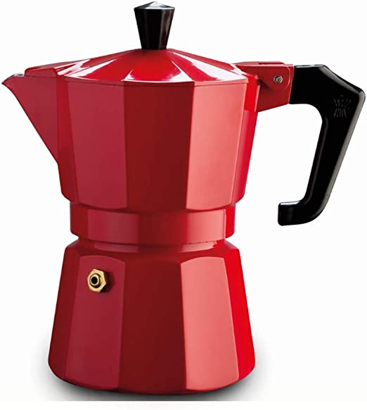 Pezzetti ITALEXPRESS - Cafetera de aluminio, 3 tazas, color negro ...