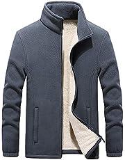 QXXKJDS Double-sided Fleece Sweatshirts Jacket Men Plus Size Warm Fleece Hoodies Top Cardigan Coat Men
