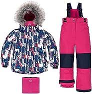 Deux par Deux Two-Piece Snowsuits Girl Toddler Funky Lamas Fuchsia 5 Years