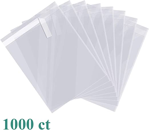 CELLOPHANE CLEAR BAGS WITH SELF SEAL STRIP CHOOSE SIZE /& QUANTITY